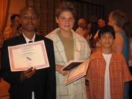 Ryan and friends on their 6th grade graduation