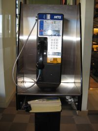 MTS pay phone