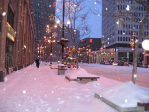 winter on portage avenue
